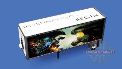 De tous les métaux semi-trailer de Dragon Age pour American Truck Simulator