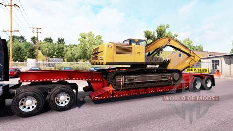 Low sweep mit übergroßen Ladung für American Truck Simulator