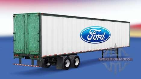 La peau de Ford sur la remorque pour American Truck Simulator