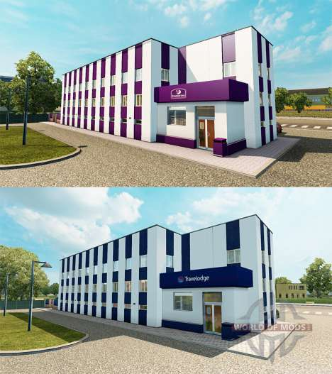 La chaîne d'hôtel Travelodge et Premier Inn pour Euro Truck Simulator 2