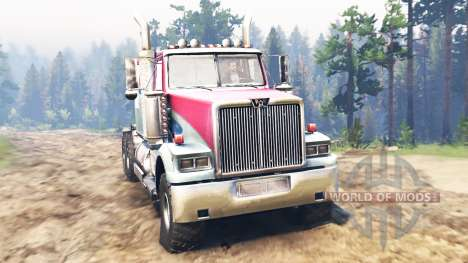 Western Star 4900 [red] pour Spin Tires