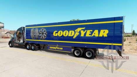 La peau Goodyear sur frigorifique semi-remorque pour American Truck Simulator