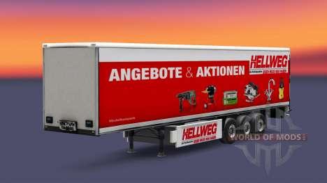 Une collection de peaux sur le isométrique semi- pour Euro Truck Simulator 2