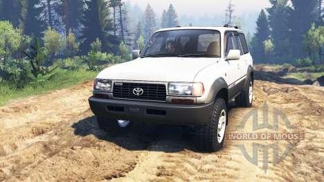 Toyota Land Cruiser 80 VX 1990 v2.0 pour Spin Tires
