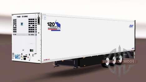 Semitrailer refrigerator Schmitz Cargobull für Euro Truck Simulator 2
