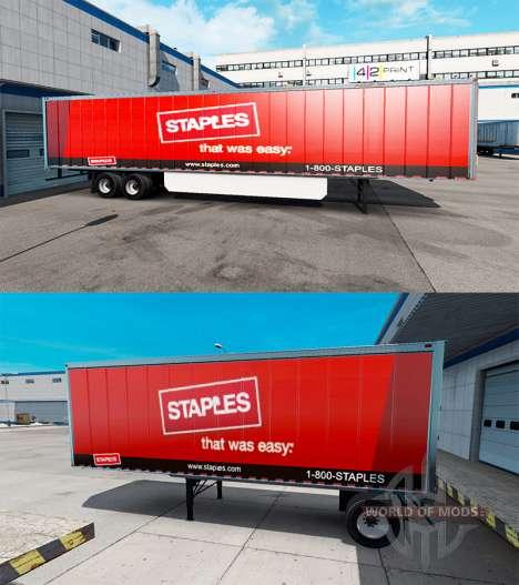 Haut Staples Inc. auf dem Anhänger für American Truck Simulator