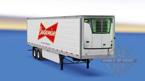La peau sur Budweiser frigorifique semi-remorque pour American Truck Simulator