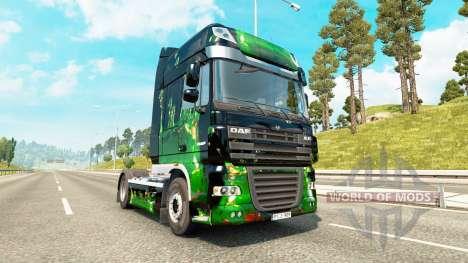 Des œuvres d'art de la peau pour DAF camion pour Euro Truck Simulator 2