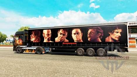 Rammstein skin for trailers für Euro Truck Simulator 2