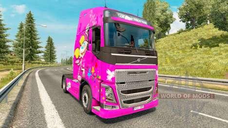 Dee Dee peau pour Volvo camion pour Euro Truck Simulator 2