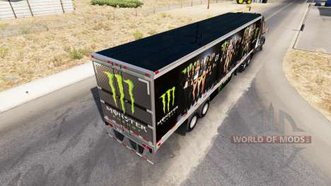 Skin Monster Energy für semi für American Truck Simulator