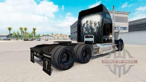 La peau Rapide et Furieux sur le camion Kenworth pour American Truck Simulator