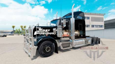 Haut Schnell und Wütend auf den LKW-Kenworth W90 für American Truck Simulator