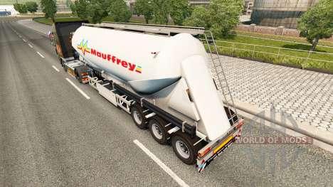 Eine Sammlung von skins auf Zement-Auflieger für Euro Truck Simulator 2