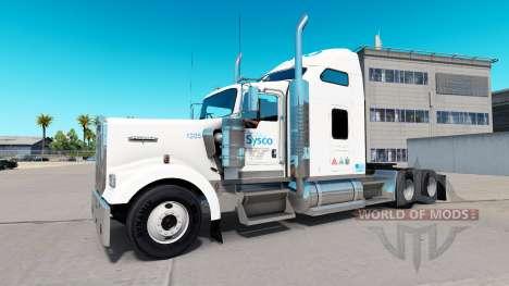 Die Haut auf der Sysco-truck Kenworth W900 für American Truck Simulator