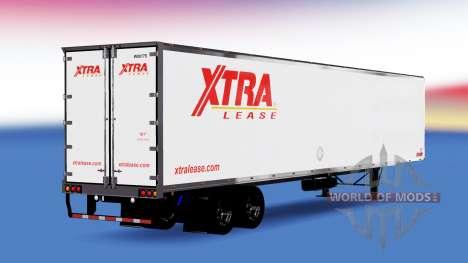 All-Metall-semi-trailer Xtra Lease für American Truck Simulator