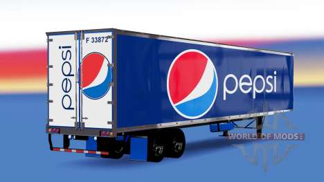 All-Metall-semi-trailer Pepsi für American Truck Simulator