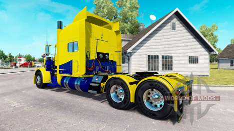 Haut Gelb und Blau für den truck-Peterbilt 389 für American Truck Simulator