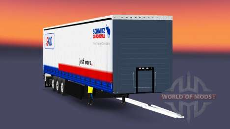 Rideau semi-remorque Schmitz Cargobull pour Euro Truck Simulator 2
