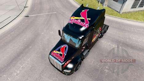Haut der St. Louis Cardinals auf die Zugmaschine für American Truck Simulator
