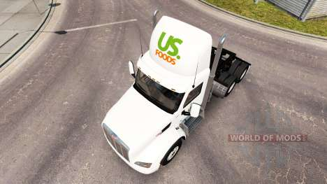 La peau NOUS les Aliments camion Peterbilt pour American Truck Simulator