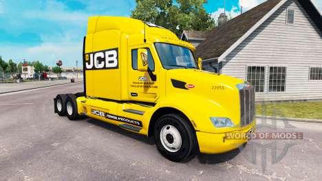 JCB la peau pour le camion Peterbilt pour American Truck Simulator
