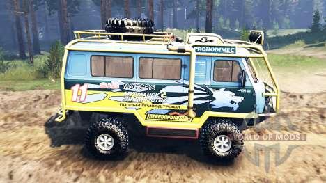 UAZ-3909 v2.0 für Spin Tires