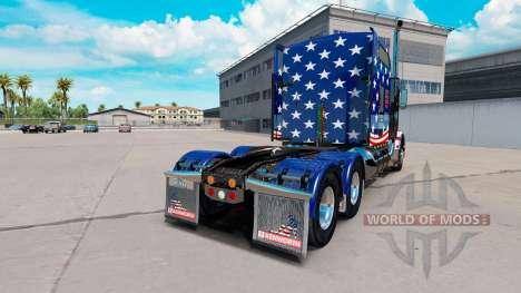 La peau Drapeau USA tracteur sur un Kenworth T80 pour American Truck Simulator