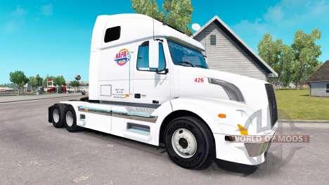 Haut NAPA auf Sattelzugmaschine Volvo VNL 670 für American Truck Simulator