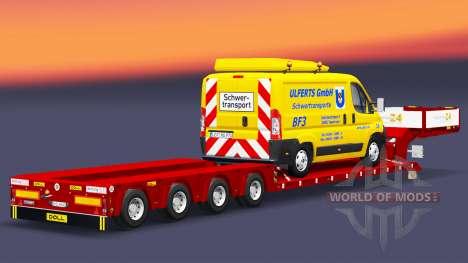 Lit bas au chalut de Poupée avec un cargo van pour Euro Truck Simulator 2