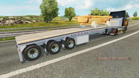 Die semi-Plattform mit dem Wagen für Euro Truck Simulator 2