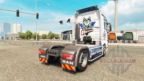Haut-EC Kassel Huskies MANN auf einem Traktor für Euro Truck Simulator 2