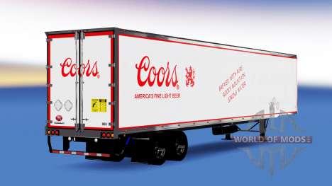 Tous métal-semi-remorque Coors pour American Truck Simulator