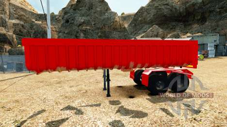 La semi-remorque benne v2.0 pour Euro Truck Simulator 2