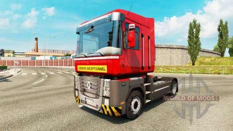 Schwertransport skin für Renault-LKW für Euro Truck Simulator 2