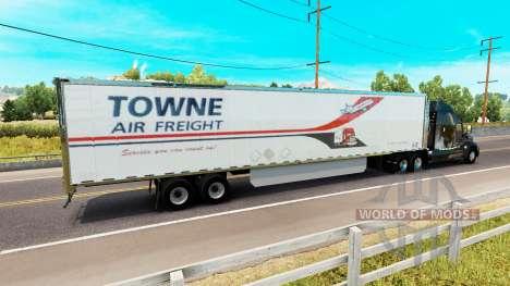 La peau Towne Fret Aérien sur la remorque pour American Truck Simulator
