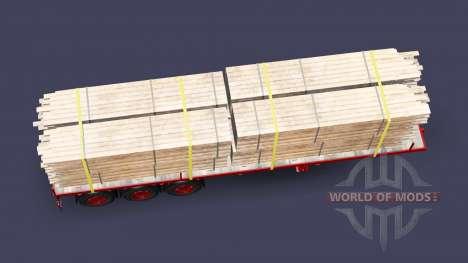 Die Auflieger-Plattform mit load-boards für Euro Truck Simulator 2