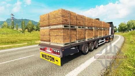 Semitrailer Wielton platform pour Euro Truck Simulator 2