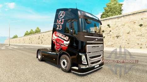 MJBulls skin für Volvo-LKW für Euro Truck Simulator 2