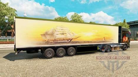 La peau Meridianas sur la remorque pour Euro Truck Simulator 2