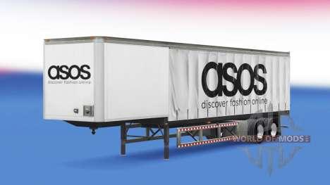 Rideau semi-remorque Asos pour American Truck Simulator
