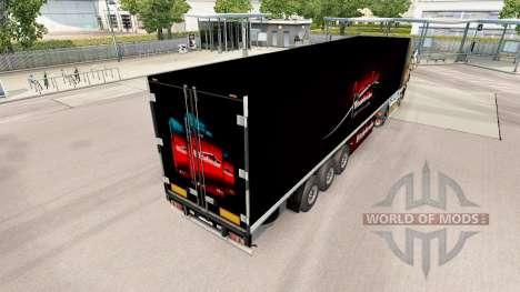 La peau BitDefender sur la remorque pour Euro Truck Simulator 2
