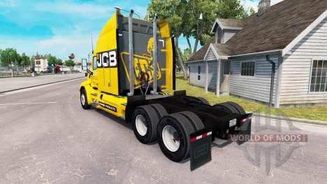 JCB skin für den truck Peterbilt für American Truck Simulator