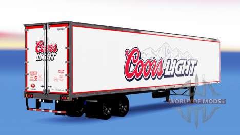 All-Metall-semi-Coors Light für American Truck Simulator