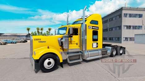 Haut JCB Traktor Kenworth W900 für American Truck Simulator