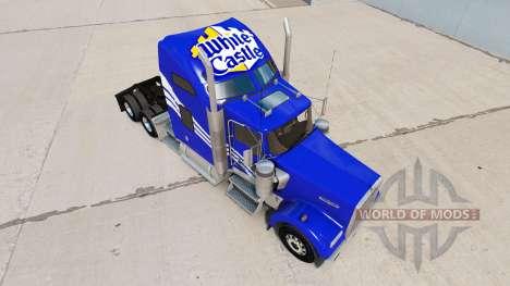 La peau Château Blanc sur le camion Kenworth W90 pour American Truck Simulator