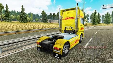 Haut DHL für Scania-LKW für Euro Truck Simulator 2