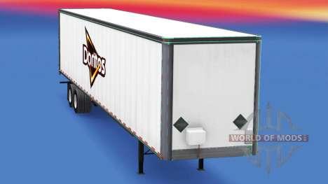 Haut von Doritos auf dem Anhänger für American Truck Simulator
