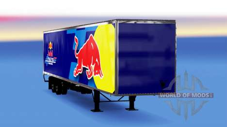 All-Metall-semi-trailer-Red Bull für American Truck Simulator