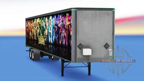 All-Metall-semi-trailer zu League of Legends für American Truck Simulator
